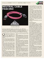 Neutral Cable - Fascino power cord Fedeltà del Suono n. 216