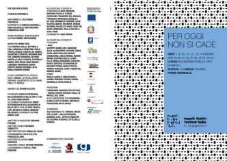brochure - Napoli Teatro Festival