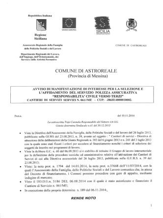Avviso - Comune di Castroreale