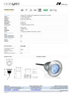 SCHEDA TECNICA Codice 252/RGB Incasso LED