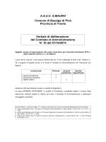 delibera S.Agnese - Albo Comunale. Comune di Baselga di Piné.