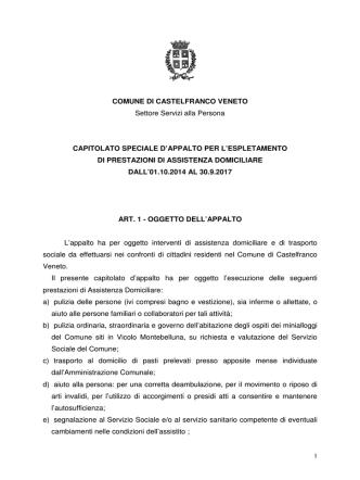 COMUNE DI CASTELFRANCO VENETO Settore Servizi alla