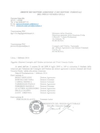 comunicazione proclamazione - Federazione Regionale degli