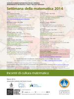 La locandina - Università Cattolica del Sacro Cuore