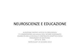 (Microsoft PowerPoint - NEUROSCIENZE E EDUCAZIONE.ppt