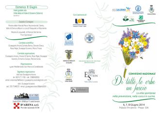 brochure convegno erbe - Ordine dei Dottori agronomi e forestali