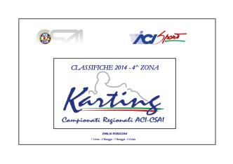 CLASSIFICHE 2014 - 4^ ZONA
