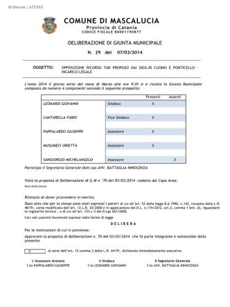 Avv. D. Barbarino - TAR Cuomo Ponticello