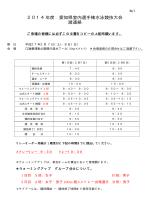 2014年度 愛知県室内選手権 2次要項