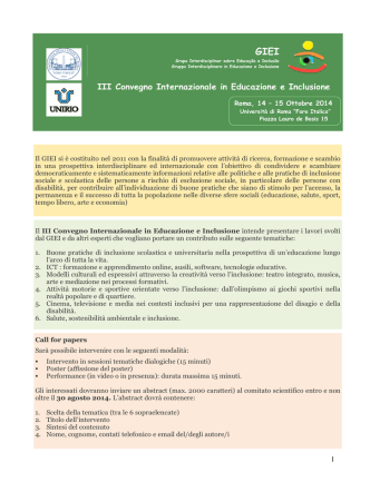 Call for papers GIEI
