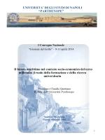 2014 - QUINTANO C., Intervento dal titolo - Economia