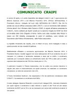 COMUNICATO CRAIPI - Home Page FISTel Cisl Veneto