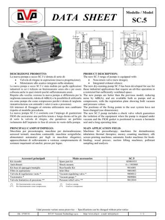 DATA SHEET - marco pumps