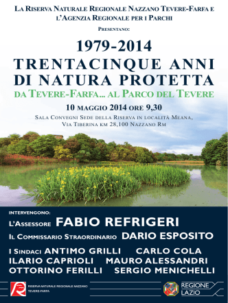 10 maggio 2014 - Autorità di Bacino del fiume Tevere