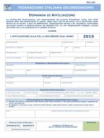 Modulistica Tesseramento 2014 - Federazione Italiana Escursionismo
