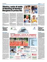 Atletica, notte di stelle al Meeting di Nembro Bergamo in prima fila
