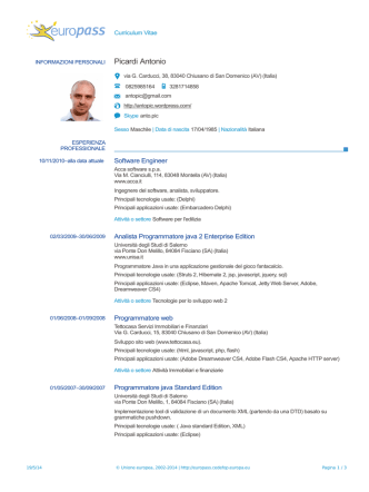 CV (IT) – Antonio Picardi