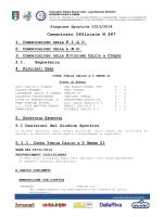 Omologazione Ottavi di andata Coppa Italia Under 21 31/01/2014