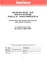 Manuale Gestione Sicurezza - Consorzio Rolando Innocenti