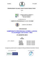 31 agosto (Provinciali Como-Lecco)