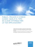 PUBLIC, PRIVATE O HYBRID CLOUD: QUAL È IL TIPO DI