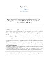 bando benefici a concorso a.a. 2014/2015