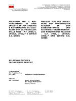 Relazione tecnica - Comune di Bolzano