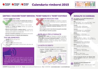 Calendario rimborsi 2015