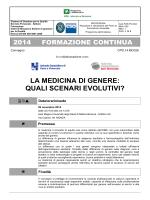 la medicina di genere - Ospedale Maggiore Policlinico