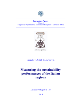 Measuring the sustainability performances of the Italian regions