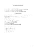 Archivi consultati Bibliografia Note