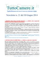 Newsletter n. 21 del 30 Giugno 2014 1. REGISTRO