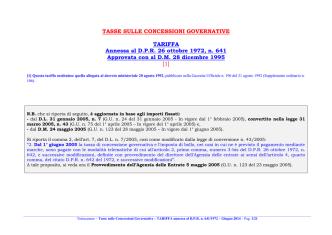 (Tariffa in vigore dal 24 giugno 2014).