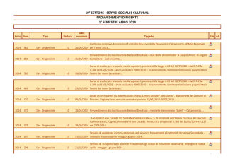 2014 - primo semestre - Provincia Caltanissetta