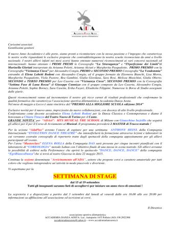 allievi 2014 - Accademia Danza Aosta