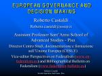Teorie UE - Corso di Laurea Magistrale in Relazioni Internazionali e