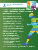 Presentazione CdS Magistrale in - Università Telematica San Raffaele