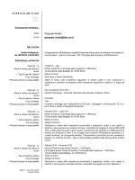 CV Pasquale Rinaldi - Istituto di Scienze e Tecnologie della