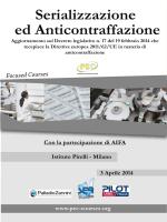 """CORSO PEC """"Serializzazione ed Anticontraffazione"""""""