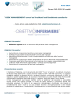 """Corso FAD ECM 30 crediti """"RISK MANAGEMENT errori ed incidenti"""