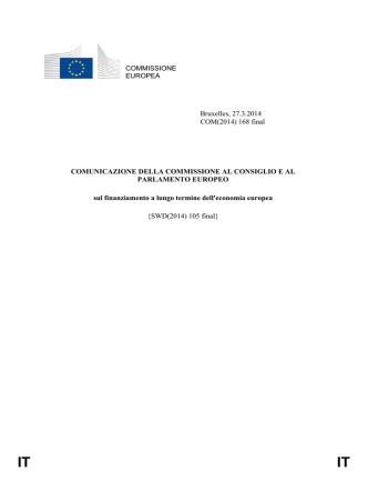 COM(2014)168/F1 - IT - European Commission