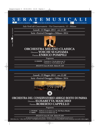 Concerto OCAB Milano.. - Conservatorio di Musica Arrigo Boito