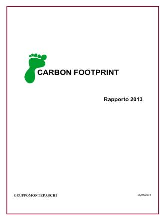 carbon footpr carbon footprint - Banca Monte dei Paschi di Siena