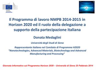 Calls - Università degli Studi di Siena