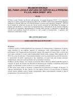 bilancio sociale del piano locale unitario dei servizi alla