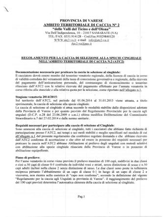 AMBITO TERRITORIALE DI CACCIA NO 2