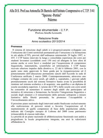 2014 Relazione finale funzione strumentale amella2 - Sperone