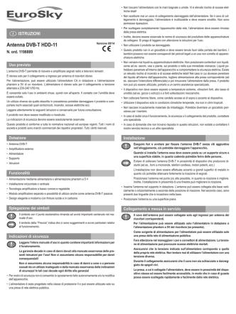 Antenna DVB-T HDD-11 - produktinfo.conrad.com