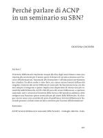 Perché parlare di ACNP in un seminario su SBN?