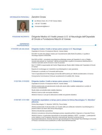 Curriculum - ASL Varese